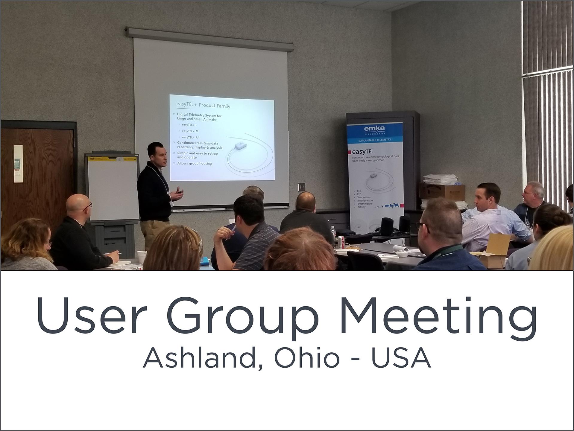 User Group Meeting – USA emka user group meeting Ashland 1